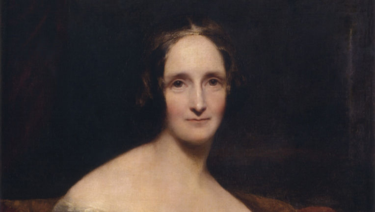 Portrait of Mary Shelley by Richard Rothwell