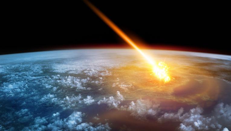 asteroid impact art