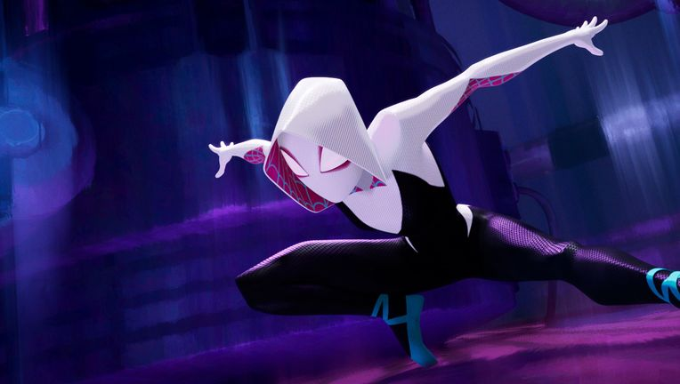 Spider-Gwen (Hailee Steinfeld) in Sony Pictures Animation's SPIDER-MAN: INTO THE SPIDER-VERSE.