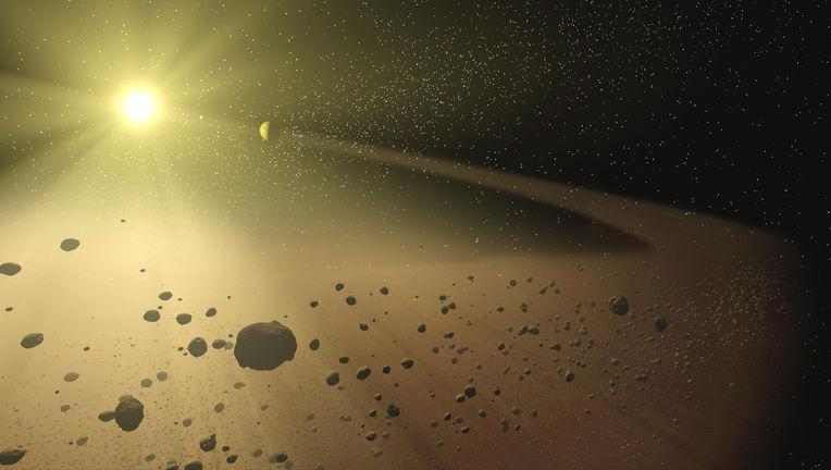 Artwork of a debris ring around a star. Credit: NASA/JPL-Caltech/T. Pyle (SSC)