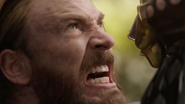 Avengers: Infinity War- Steve Rogers (Chris Evans) stopping Thanos