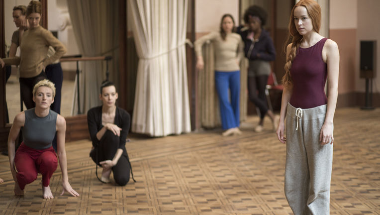 Suspiria remake - Dakota Johnson in the dance studio