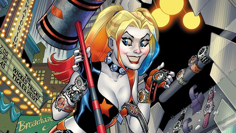 Harley Quinn - Amanda Conner  cover - Color for print - Updated Invicta Logo with Yellow