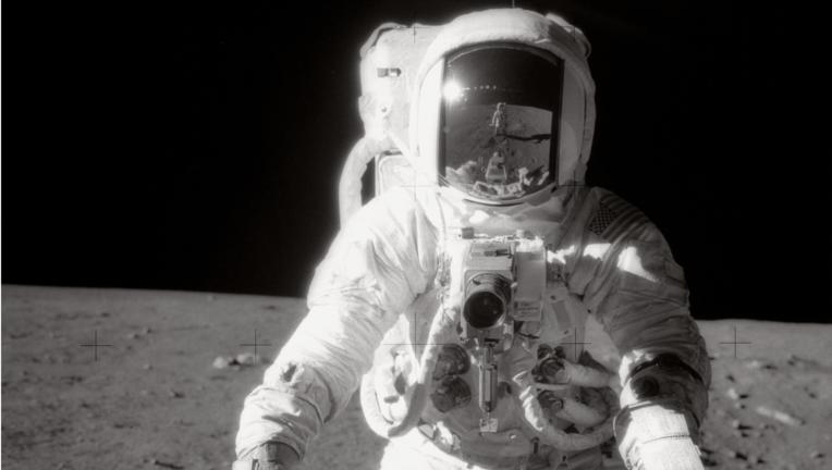 NASA image of the moon/Apollo 11