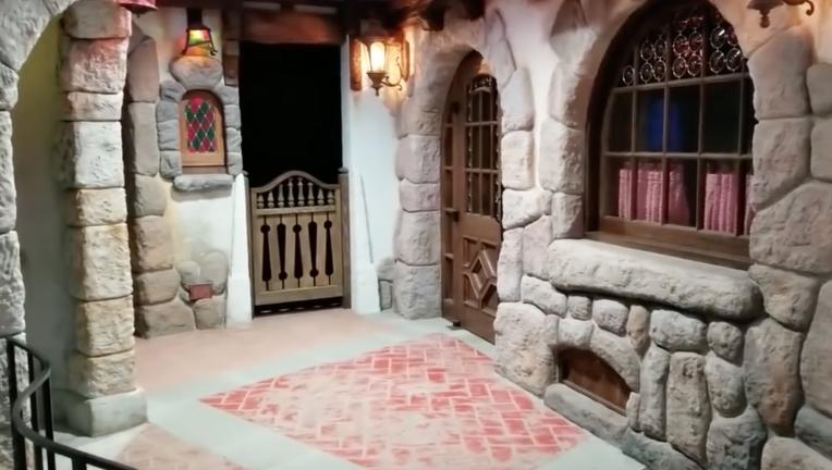 Larzland's basement recreation of Disneyland's Fantasyland