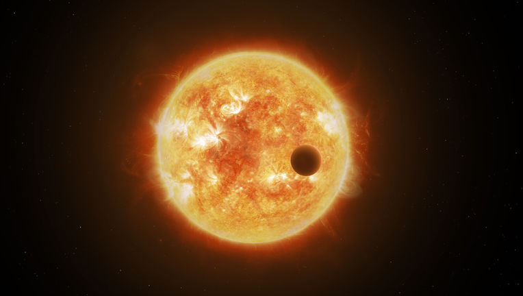Artwork of a star and exoplanet. Credit: ESA/ATG medialab