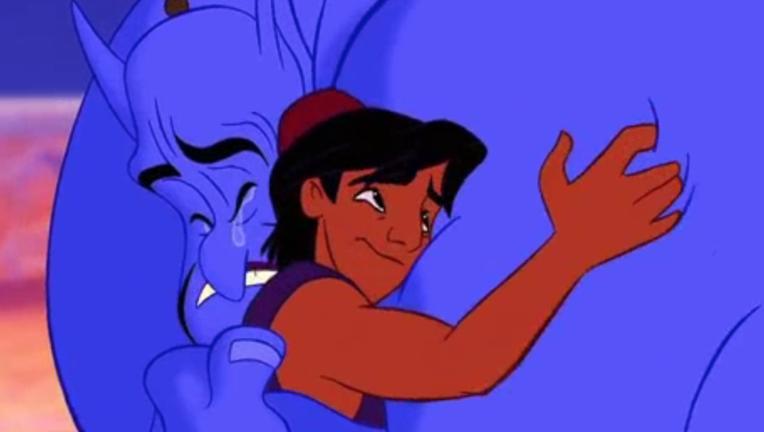 Aladdin_Genie and Al Hug