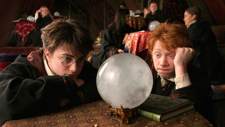 Harry Potter, Harry and Ron in Divination class