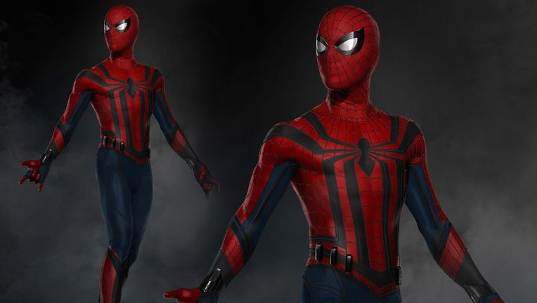 An unused Spider-Man:Homecoming concept suit based on The Sensational Spider-Man by Dan Jurgens from Marvel Studios Head of Visual Development Ryan Meinerding