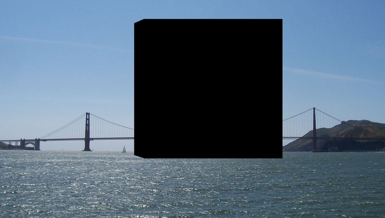 A cube made of all humans on Earth in comparison to the Golden Gate Bridge. The scale is close but not perfect due to perspective. Credit: Crew and Officers of NOAA Ship MILLER FREEMAN / Phil Plait