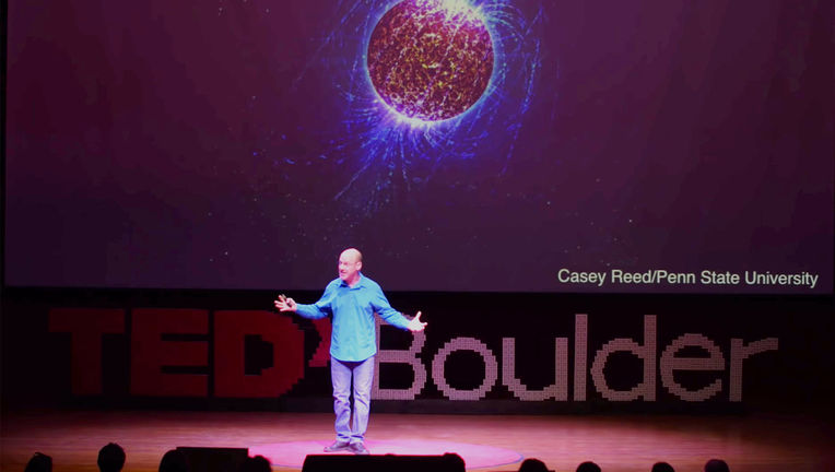 Maybe not tucking in my shirt and not wearing a belt was another mistake, too. Credit: TEDxBoulder, from the video