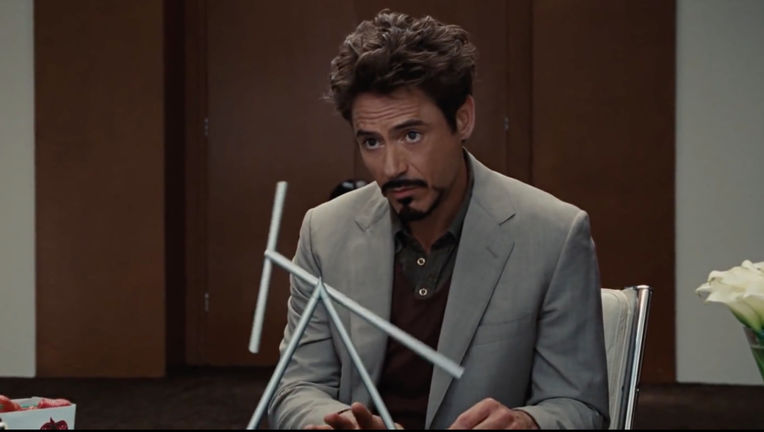 Iron Man 2- Robert Downey Jr. as Tony Stark (Office scene)