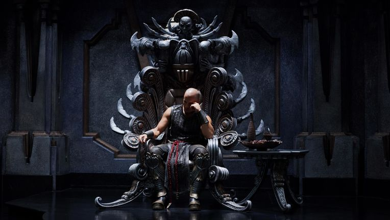 Riddick on throne