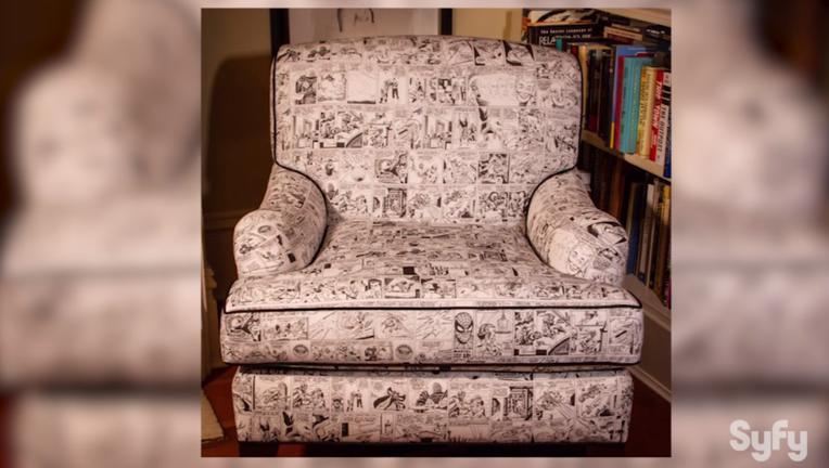 David Mandel's Steve Ditko comic chair