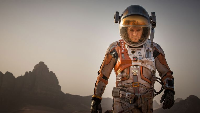 Matt Damon survives on Mars in The Martian