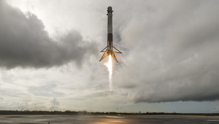 Falcon 9 booster lands