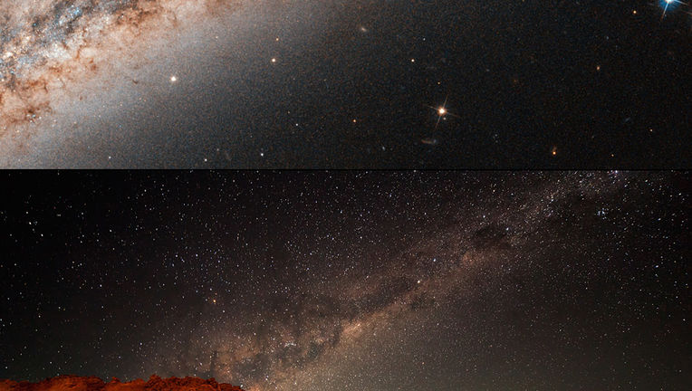 Milky Way and NGC 891