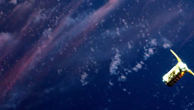 Cygnus spacecraft seen from ISS