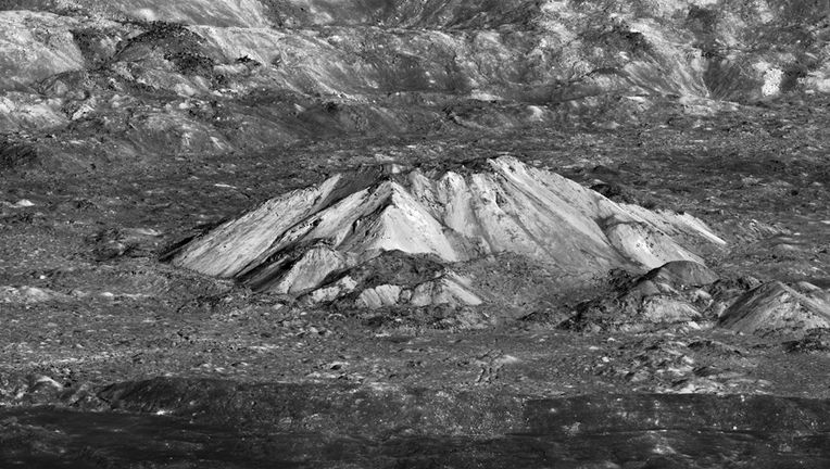 Central peaks of Tycho crater.