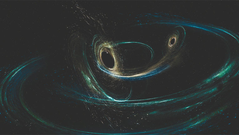 Merging black holes art