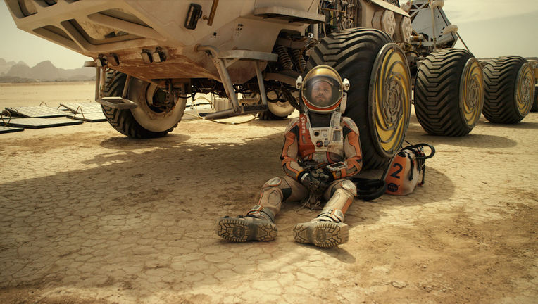 Matt Damon kicks back on Mars in The Martian