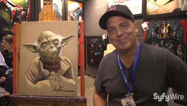 how to paint yoda