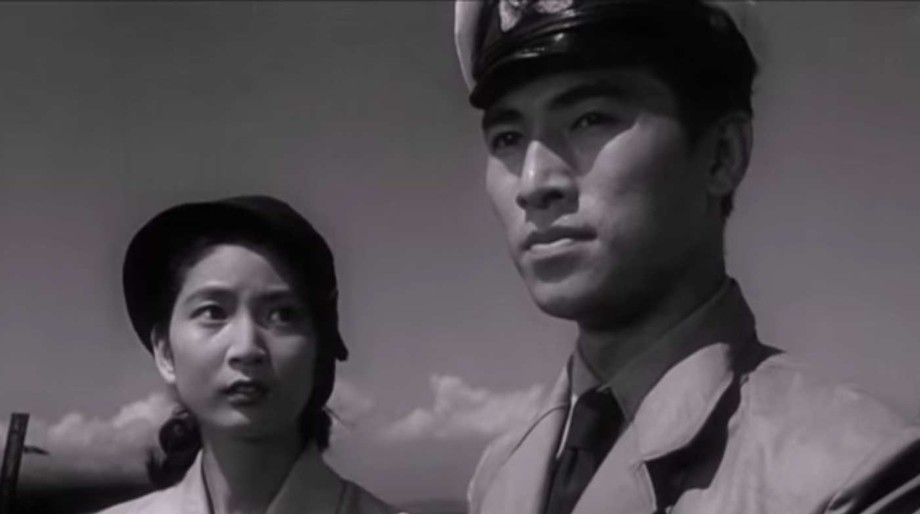 Ogata and Emiko in Godzilla (1954)