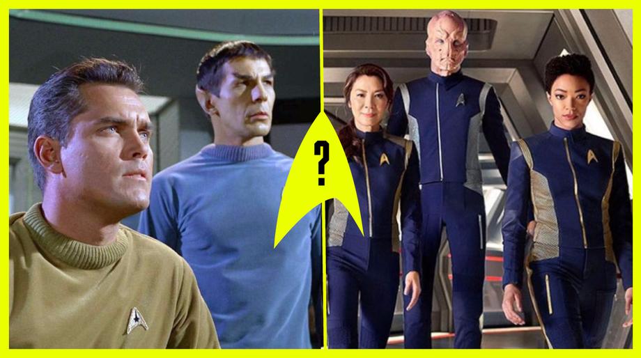 TOS Pilot Uniforms vs. Discovery Uniforms