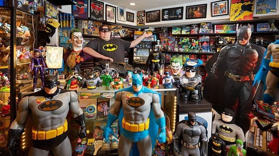 Batman collector Brad Ladner