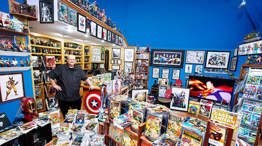 comic book collector Bob Bretall