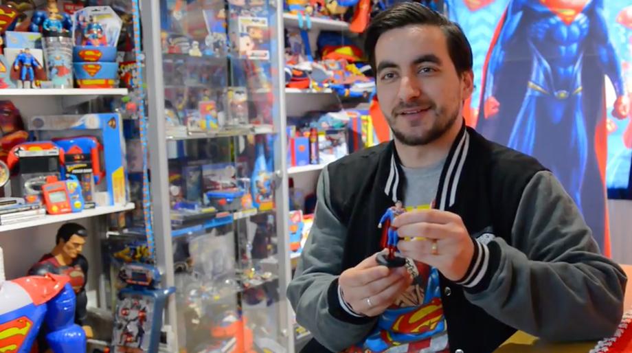Superman collector Marco Zorzin