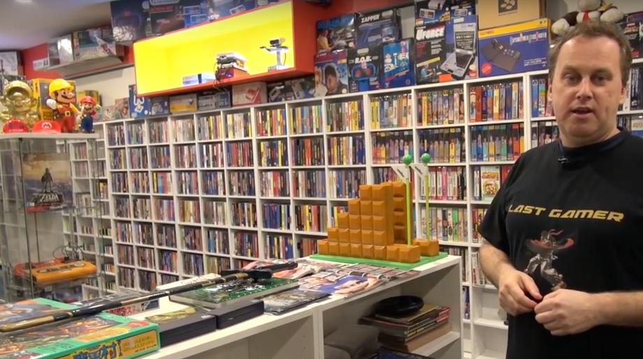 video game collector Joel Hopkins aka The Last Gamer