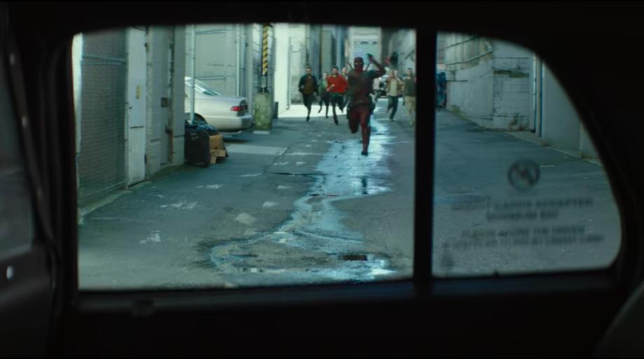 deadpool 2 taxi scene