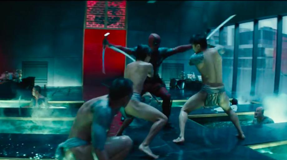 deadpool 2 sword fight