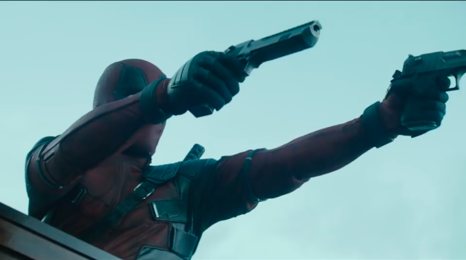 deadpool shooting at a funeral