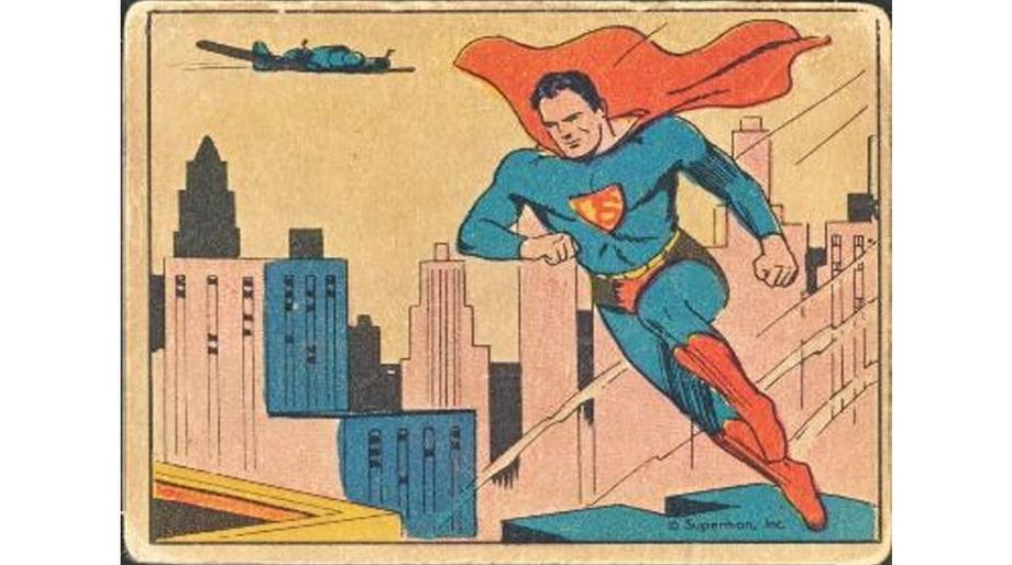 Superman gum card