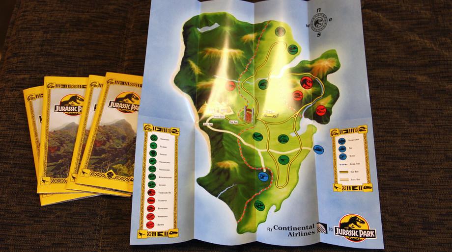 Jurassic Park brochure