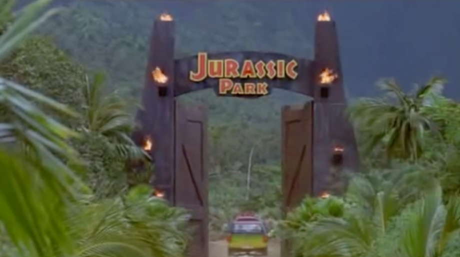 Jurassic Park sign