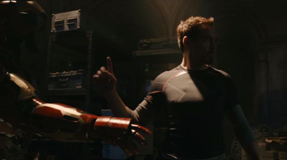 Tony Stark Lines Secret Door
