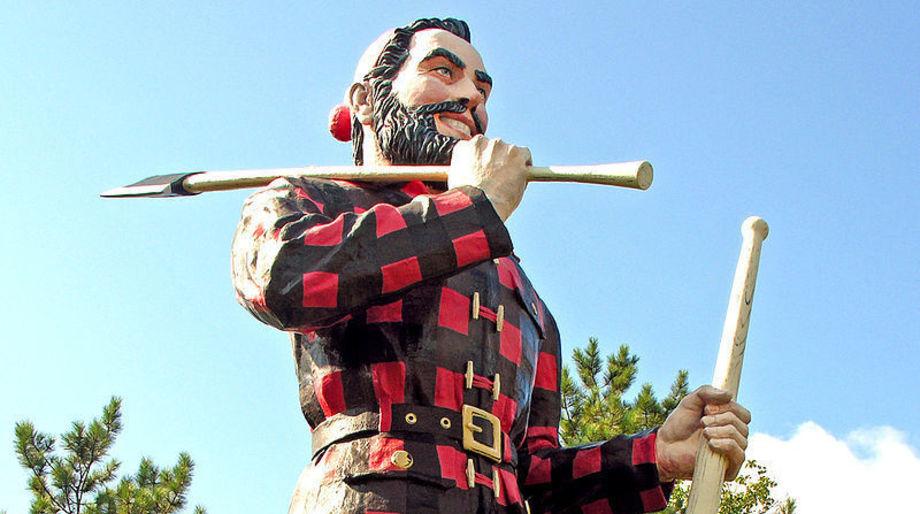 Paul Bunyan statue, Bangor, Maine — Stephen King