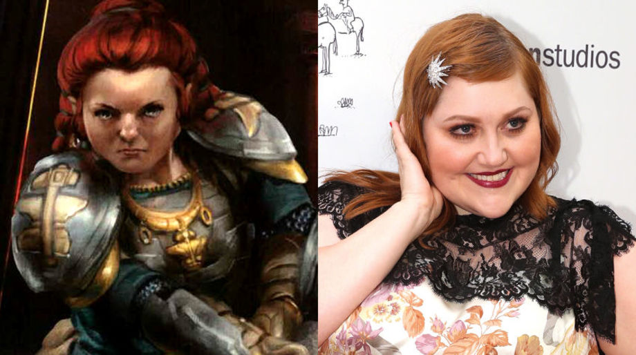 Beth Ditto as a Dwarf Paladin