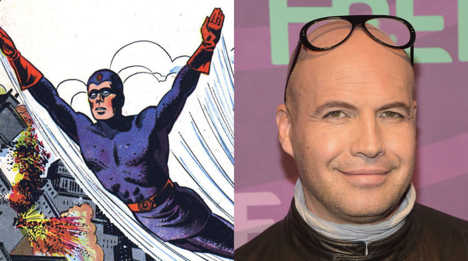 Billy Zane as the Golden Age Blue Beetle