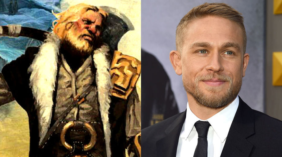 Charlie Hunnam as a Noble Barbarian