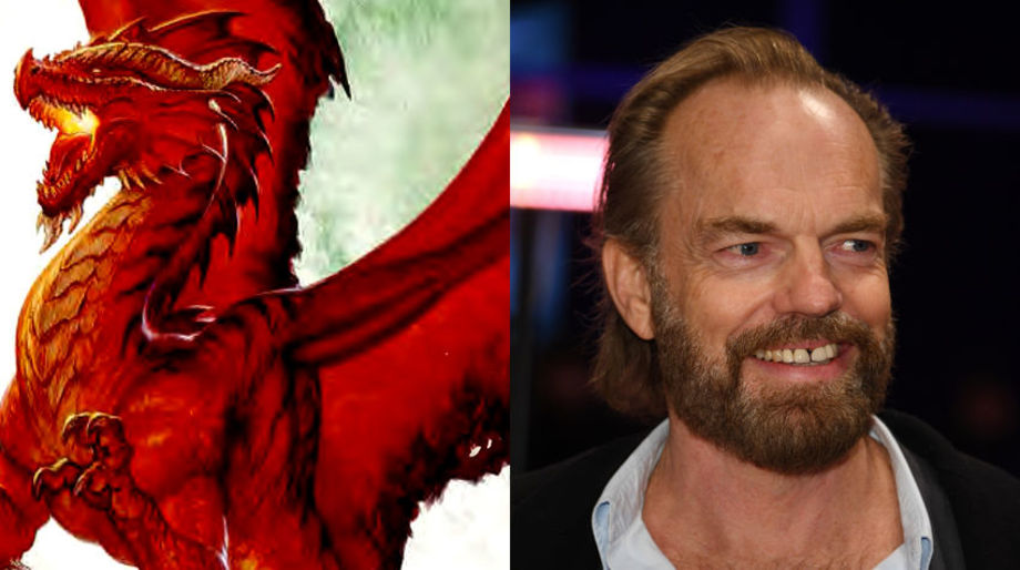 Hugo Weaving as a Dragon