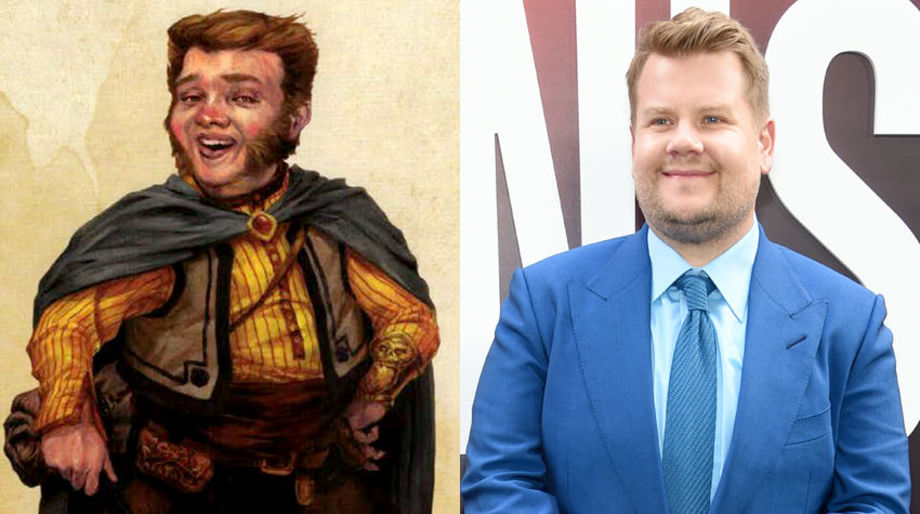 James Corden as a Halfling Merchant