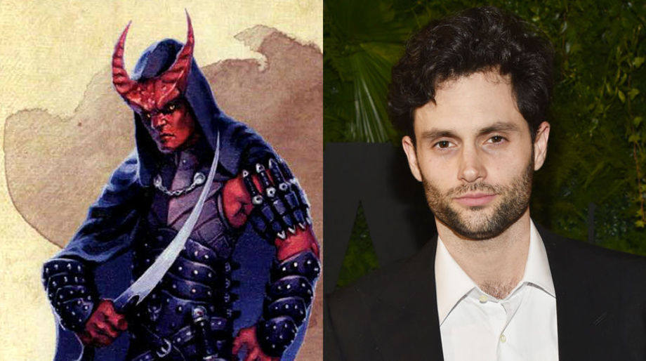 Penn Badgley as a Tiefling Assassin