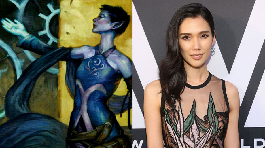 Tao Okamoto as an Elf Wizard