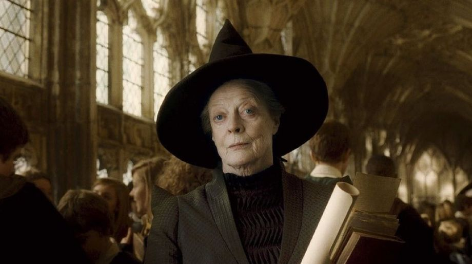 Maggie Smith as McGonagall in Harry Potter