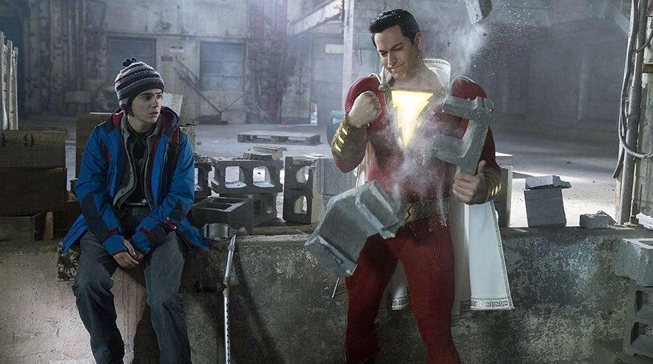 Shazam!'s mighty strength