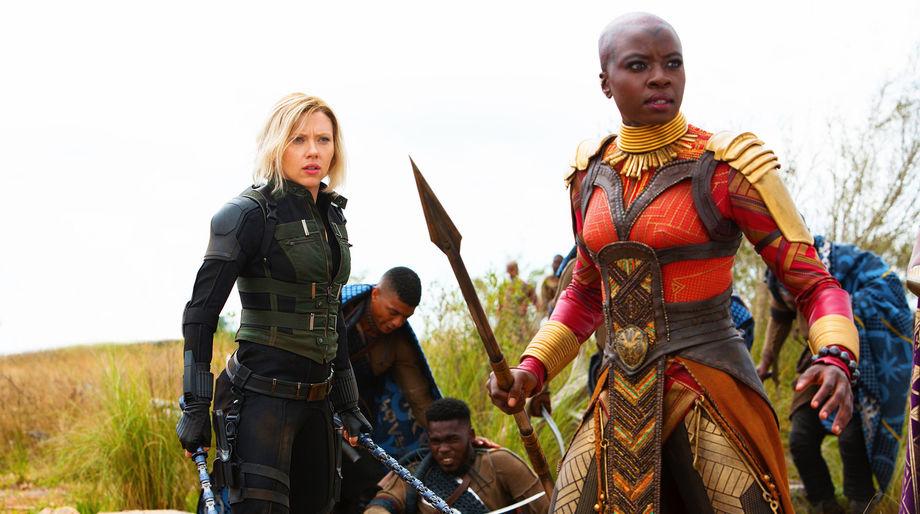 Black Widow and Okoye, Avengers: Infinity War